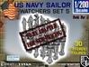 1/200 US Navy Watchers Set 5 3d printed
