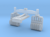 1/87 Scale Truck Mounted Mine Roller Set 3d printed