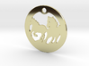 FREEDOM (precious metal earring/pendant) 3d printed
