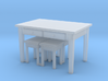H0 Kitchen Table & 4 Stools- 1:87 3d printed