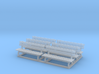 Park bench 01. HO Scale (1:87) 3d printed Park bench in HO scale (1:87)