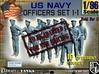 1-96 USN Officers Set1-1 3d printed