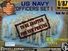 1-87 USN Officers Set1 3d printed