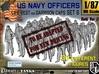 1-87 USN Officers KAPOK Set6 3d printed