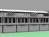 Gable Roof - ideal for pit lane slot car track 3d printed