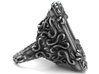 Keyhole Baroque - Huge Detailed Sterling Silver Ri 3d printed It is available on aged silver here: https://shop.pj3dartist.com/products/keyhole-baroque-detailed-huge-ring