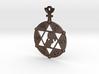 The Angel Of Saturn (steel or plastic pendant) 3d printed