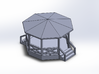 Bandstand/Gazebo - 16-foot N-scale 3d printed