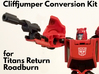 Titans Return Cliffjumper Upgrade Kit 3d printed print hand painted in black hi-def acrylate, FUD will be of a similar quality