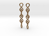 Infinity Chain Earrings 3d printed