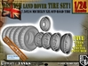 1-24 Land Rover 750x16 Tires And Wheels Set1 3d printed