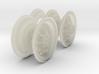 1-25 Chevy LRDG Rims FUD Set4 3d printed