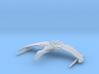 Romulan Valdore Type Warbird 1/15000 Attack Wing 3d printed