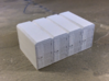OO Gauge (1/76) Cycle Lockers Set of 4 joined 3d printed Front view after one coat of primer