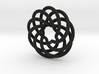 Endless Loop Pendant 3d printed
