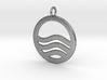 Sea Ocean Waves Symbol Pendant Charm 3d printed
