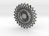 Stylized Sun Modern Pendant Charm 3d printed