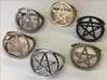 Pentacle ring (customize) 3d printed A ring of rings!