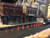'N Scale' - Road Construction Cones & Barrels 3d printed Working on the curb to raise the existing road.