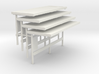 HO scale Bus Shelters 4 Pack (Type 1) 3d printed