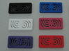 Titan Side Concentric - Closer to Laser 3d printed Multiple colors out of the nylon plastic. This is a photo of actual prints.