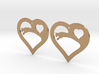 The Eager Hearts (precious metal earrings) 3d printed