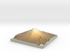 Mount St. Helens Pre-1980 Map: Sepia Relief 3d printed