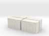 HO 1/87 MSW Trash Containers 3d printed