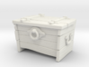 """BotW"" Wooden Treasure Chest 3d printed Shapeways render of closed chest."