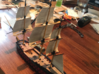 1/300 Frigate Mast Set V1 3d printed The painted masts on a finished hull.