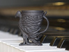 The Phoenix Mug 3d printed Small Mug Printed in Black HP Strong and Flexible (Beta material)