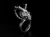 Skull Horns Ring 3d printed