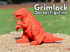 "Grimlock Mini/Decoy 3d printed ""Decoy Size"" printed in Red, Strong and Felxible"