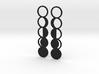 Moon Phase Earrings 3d printed