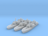 Soviet Osa Missile Boat x 3 1/1250 and 1/1800 3d printed
