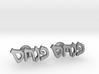 """Hebrew Name Cufflinks - """"Pinchas""""  3d printed"""