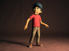 Peter from Peter and the Wolf in Hollywood. Tall. 3d printed