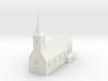 1/350 Village Church 3d printed