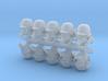 28mm dieselpunk shock troops heads (10) 3d printed