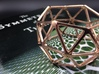 Catalan Bracelet - Pentakis Dodecahedron 3d printed Photo of finished product in 14k Rose Gold Plated