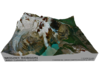 """Mount Robson Map: 8"""" 3d printed"""