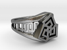 Classical Greek Curve Twin Ring 3d printed Classical Greek Curve Twin Ring