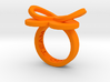 AMOUR in orange polished plastic  3d printed