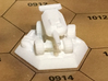 Flywheel Tank (Sophia the 3rd) 3d printed Print in White Strong & Flexible on a BattleTech map