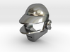 Daft Punk Silver Cufflink 3d printed