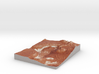 Mars Map: Light Outcrops in Red 3d printed