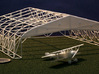 Bessonneau WWI Hangar Frame 3d printed With a Nieuport 12 and US quarter, for scale.