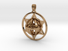 Ball In Star Of David pendant 3d printed