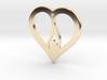 The Flame Heart (precious metal pendant) 3d printed