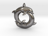 Piscean / Yin Yang Dolphin Totem Keychain 4.5cm 3d printed